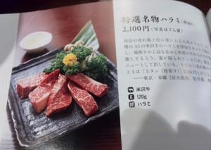 雑誌掲載:焼肉メニュー事典